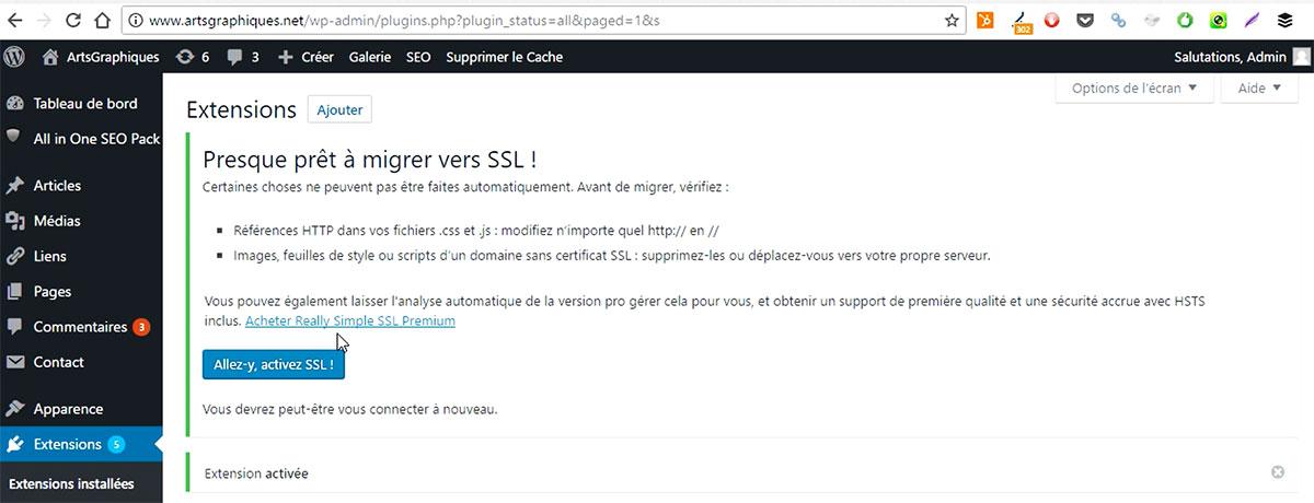 Activer le SSL