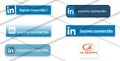 Boutons LinkedIn à télécharger.