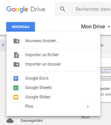 Héberger le bouton LinkedIn dans Google Drive