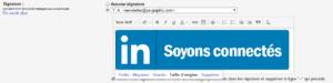 Le bouton LinkedIn en signature de Gmail