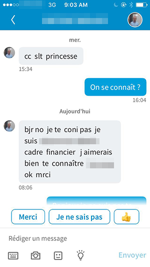 Message de drague sur LinkedIn
