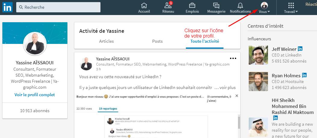 Icône de profil LinkedIn