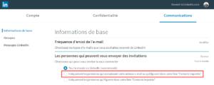 Les personnes qui peuvent nous envoyer des invitations sur LinkedIn
