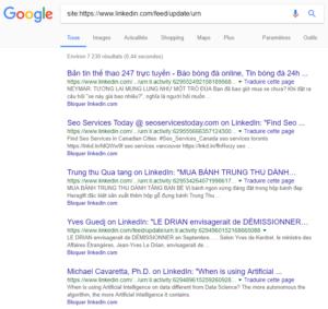 Posts publics indexés dans Google.fr