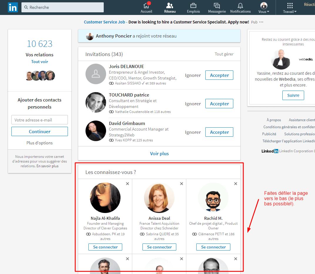 Réseau (LinkedIn)