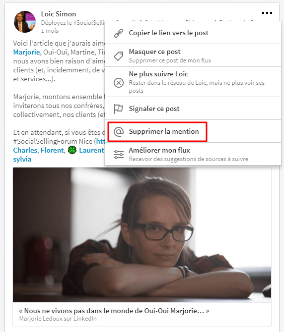 Comment on supprime une mention de son profil dans LinkedIn
