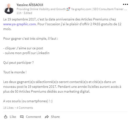 J'offre 2 PASS gratuits de 12 mois pour lire les Articles Premiums !