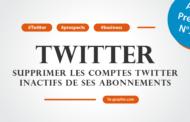Supprimer les comptes Twitter inactifs de ses abonnements (Tutoriel vidéo)