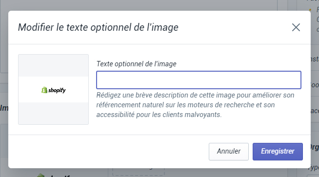 SEO Shopify : optimiser l'attribut ALT des images