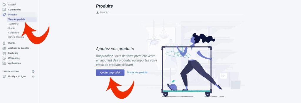 Ajoutez vos produits dans votre boutique en ligne Shopify