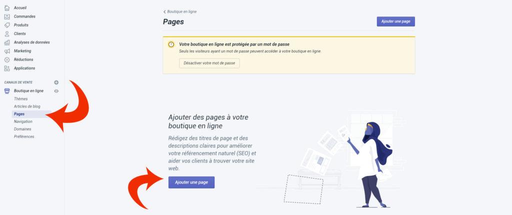 Guide Shopify : Comment ajouter des pages dans Shopify