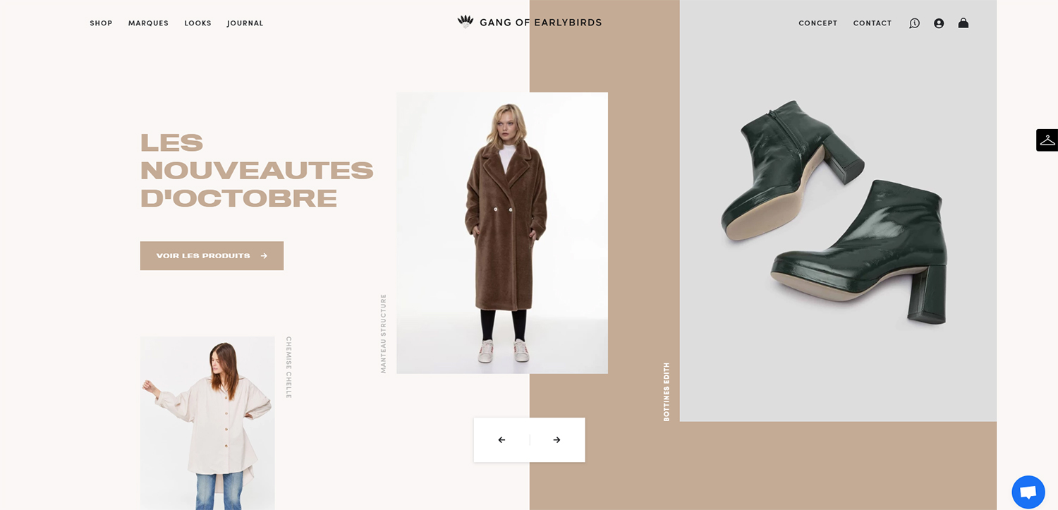 Boutique de mode Shopify Gang of Earlybirds