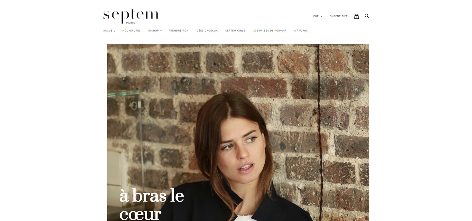 Boutique Shopify de mode - Septem Paris