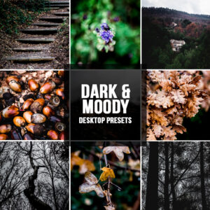 3 Lightroom presets DARK & MOODY desktop