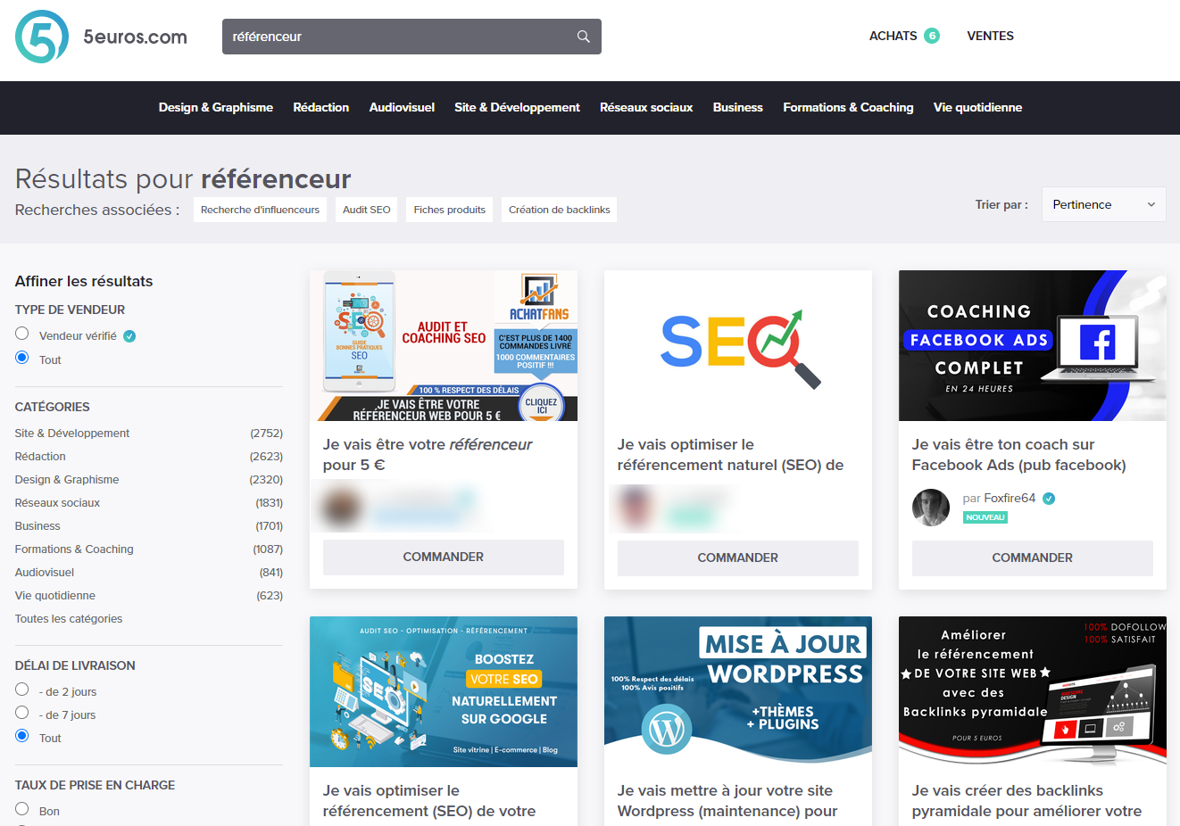 Trouver un référenceur freelance sur 5euros.com ?