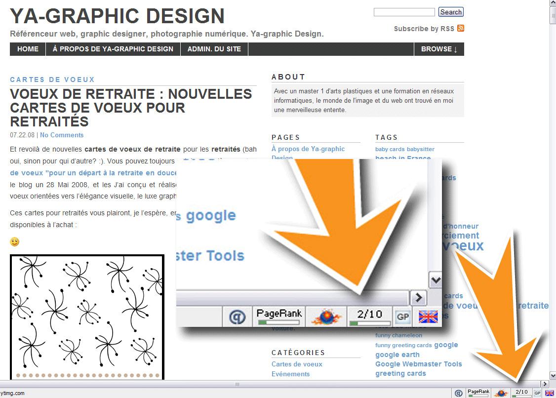 Mise a jour du pagerank PR dans la barre d'outils