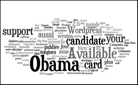 Générer nuages de mots avec Wordle
